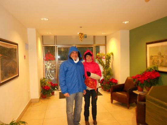 Ritz Hotel: Hall con decorazioni natalizie