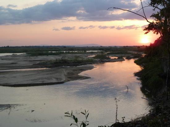Selous Great Water Lodge: Sunset over Rufiji River