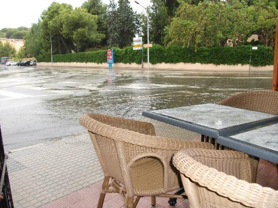 BQ Belvedere Hotel: rainy day in palmanova