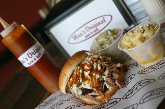 Moe's Original Bar B Que: Pulls Pork Sandwich