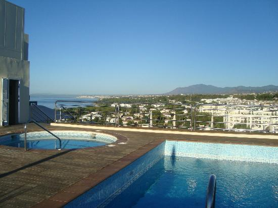 Senator Marbella Spa Hotel: view from rooftop pool area