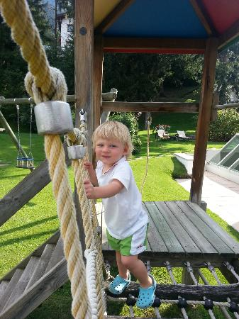 Hotel Gardena Grodnerhof: my son playing