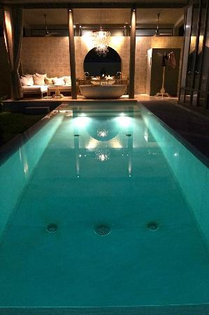 SALA Phuket Resort & Spa: The Pool at Night