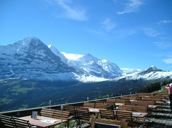 Grindelwald, Suiza: Eiger, Monch, Jungfrau from Bussalp