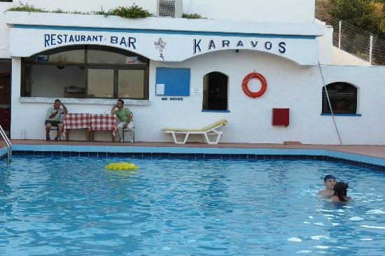 Karavos: The pool and Mum's kitchen!