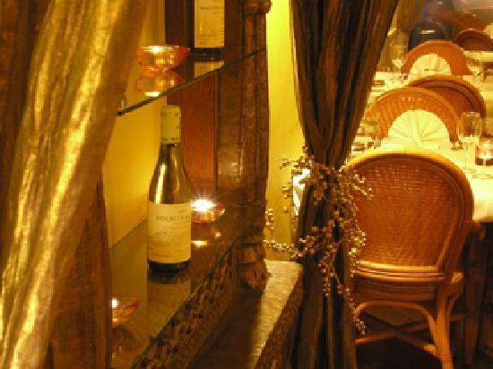 Indian Restaurant Maharani: Curtain