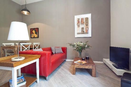Aspasios Rambla Catalunya Suites: Sala de estar