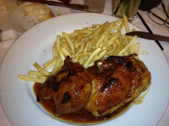 Le Petit Four: Roast Duck with a Red Wine Sauce and Pommes Frites!