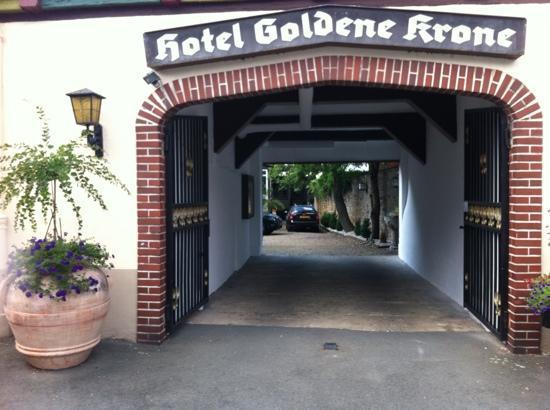 Hotel Goldene Krone: hotellet fra bagsiden