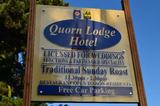 Quorn Lodge Hotel: hotel sign