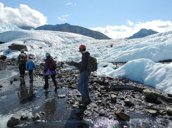 Mica Guides: On Guided Hike of Matanuska Glacier
