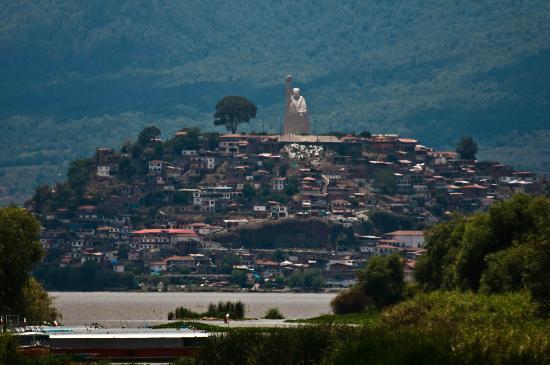 Lake Patzcuaro: Janitzio from the docks of patzcuaro