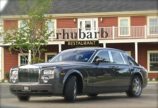 Oceanstone Resort : Rhubarb Restaurant - arrive in style with a Rolls Royce (contact us for details)