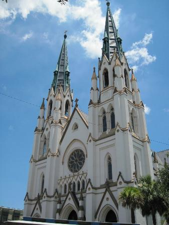 View of the Cathedral of St. John the Baptist from Lafayette Square