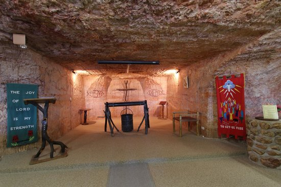 Coober Pedy, Australia: Inside Catacomb Church