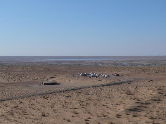 Urgench, Uzbekistan: Vue des installations depuis le fort