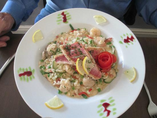 Villa Marina: Red mullet on crab and shrimp risotto