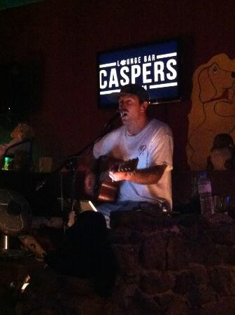 Caspers Belgian beers & cocktails: James Gillespie performance - literally breath taking :) talent!
