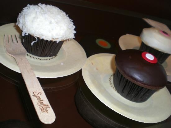 Sprinkles Cupcakes: Coconut, Chocolate Marshmallow, and Vanilla