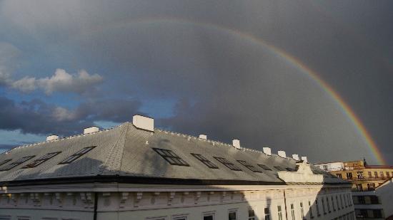Prague City Apartments Residence Karolina : rainbow after quick shower