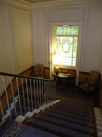 Beau-Rivage Genève : escalier hôtel