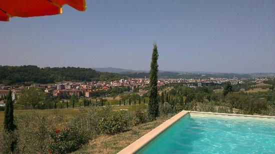 Tenuta Il Tresto: uitzicht op San gimignano vanuit zwembad