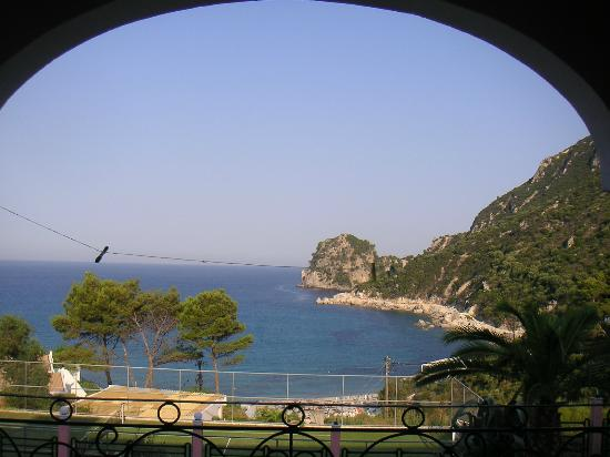 Hotel Elena Ermones: view from room balcony