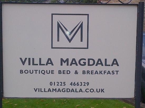 Villa Magdala, BATH, UK -- address