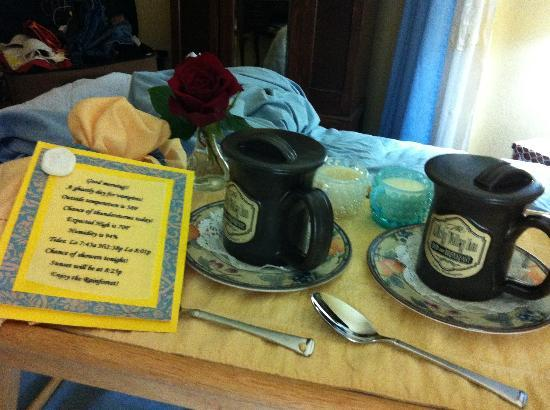 Misty Valley Inn B&B: Our wake up call