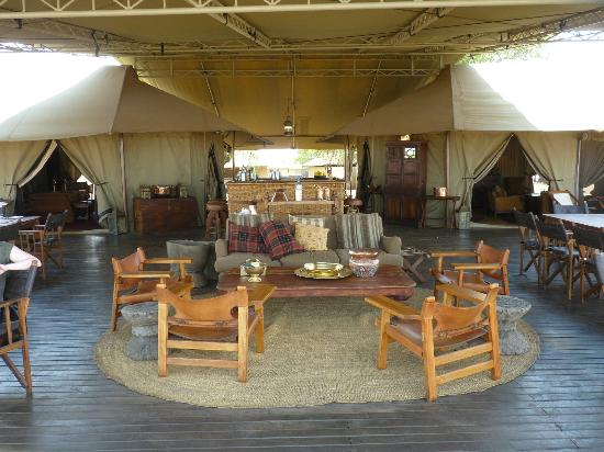 Singita Sabora Tented Camp: Main part of camp