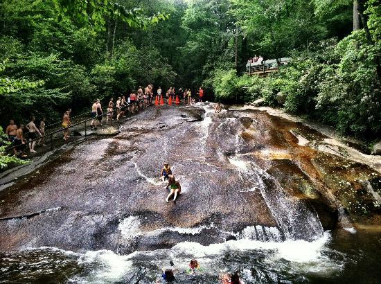 Ready Set Slide Picture Of Sliding Rock Pisgah Forest Tripadvisor