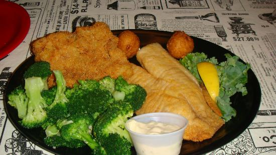 Sumter, SC: Flounder Platter was on special for $8.99 Amazing came with 2 sides and hushpuppies