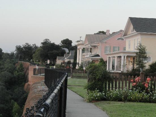 Bluff Top Bed and Breakfast: Bluff walk past beautiful homes with riverview