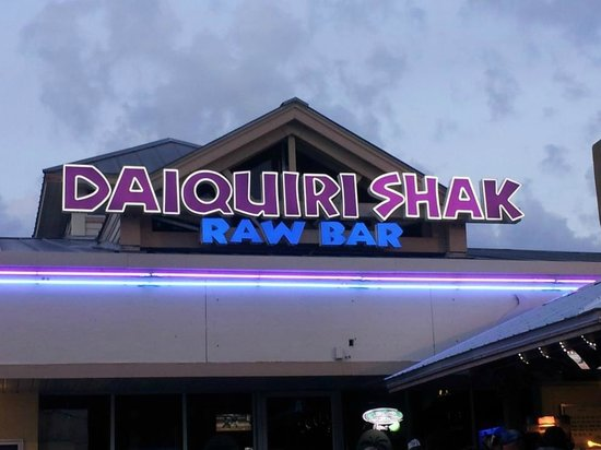 Daiquiri Shak Raw Bar & Grille: New Signage on the Building