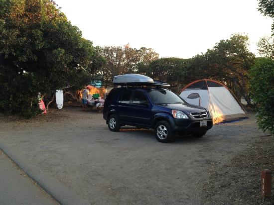 San Elijo State Beach Campground: Our spacious camp site, #117