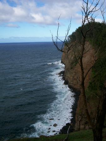 Hawaii Island Retreat at Ahu Pohaku Ho`omaluhia: Cliffs behind the Resort