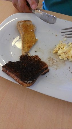 West Camel, UK: Cindered toast!