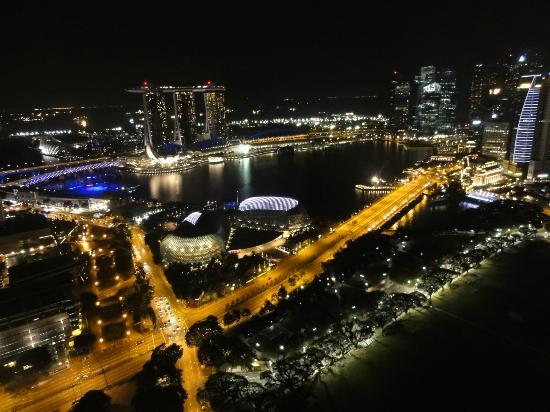 Swissotel The Stamford Singapore: マリーナベイサンズ方面