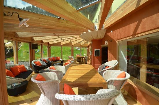 Hotel Cime d'Oro: La veranda panoramica