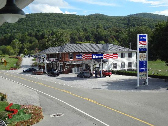 The Depot Lodge: General store with gas pumps
