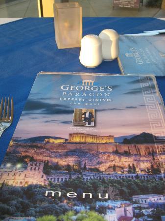George's Paragon Seafood Restaurant Coolangatta: Delicious menu