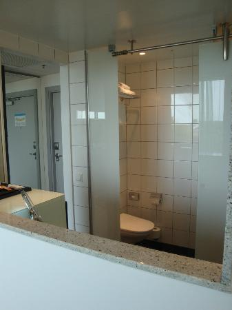 Radisson Blu Hotel Uppsala: View of toilet from your bed