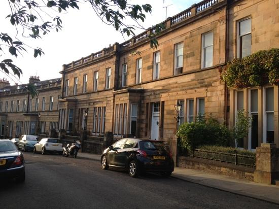 The White House Apartments: Cleveden Crescent where the apartments are situated