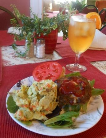 Namaste Center for WellBeing: Meatloaf Slider and Potato Salad - all homemade