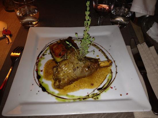 L'Hotel Cesar : La souris d'agneau et le Tian de légumes