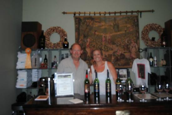 Wine Country Journeys LLC: Owner and his daughter at Little Vineyards