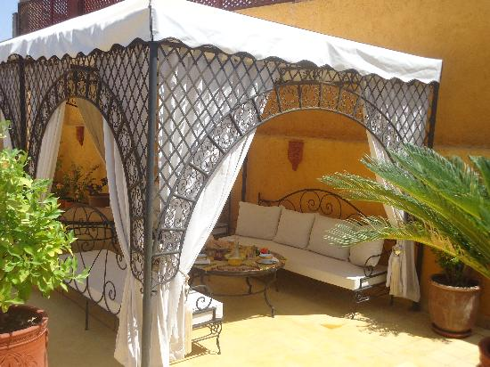 Riad Aldiana: Pergola terrasse