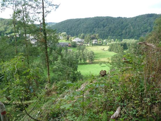 Hotel - Restaurant Beau Sejour: Vue prise dans les bois
