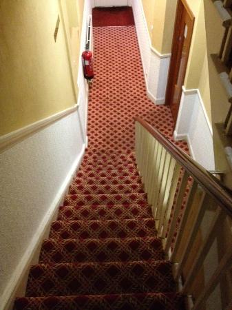 Alexandra Hotel: stairway