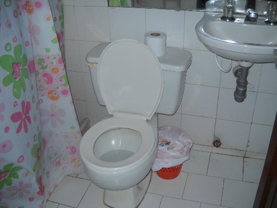 هوتل لوس فيليروس: Baño